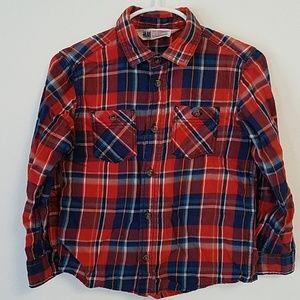 H +M Boys Plaid Shirt